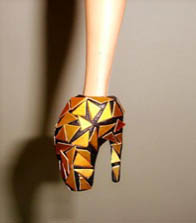 Closeup of GaGa Barbie Shoe