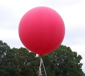 red weather balloon
